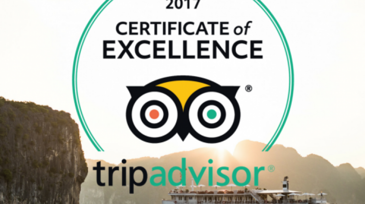 Bhaya Group's cruises earn 2017 TripAdvisor Certificate of Excellence