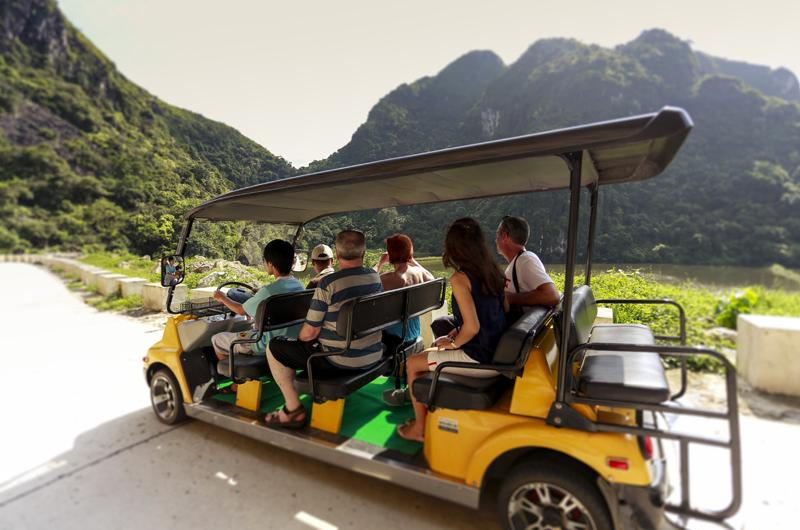 Electric cart tour on Cat Ba Island