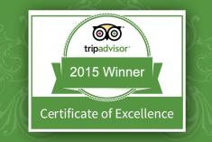 Bhaya Group certificate of excellent by Tripadvisor 2015